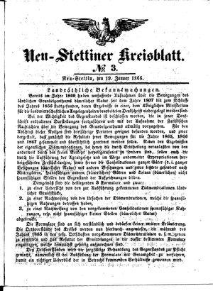 Neustettiner Kreisblatt vom 19.01.1866