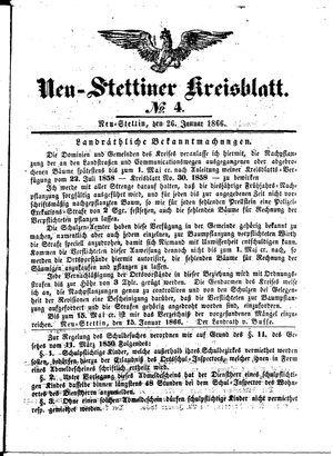Neustettiner Kreisblatt vom 26.01.1866