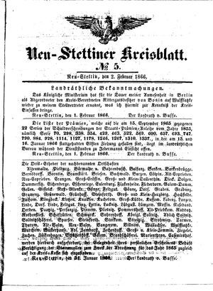 Neustettiner Kreisblatt vom 02.02.1866
