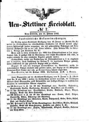 Neustettiner Kreisblatt vom 16.02.1866