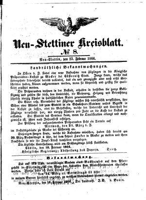 Neustettiner Kreisblatt on Feb 23, 1866