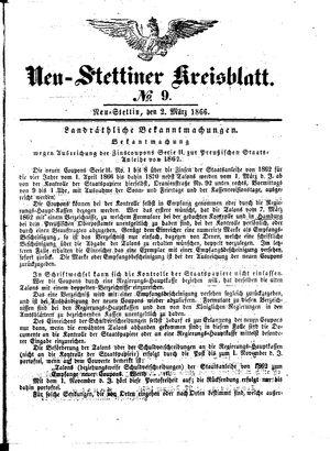 Neustettiner Kreisblatt vom 02.03.1866