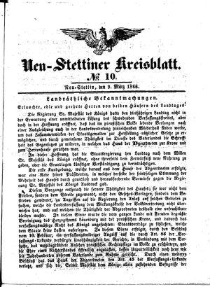 Neustettiner Kreisblatt vom 09.03.1866
