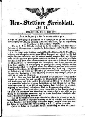 Neustettiner Kreisblatt vom 16.03.1866