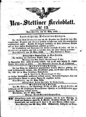 Neustettiner Kreisblatt vom 23.03.1866
