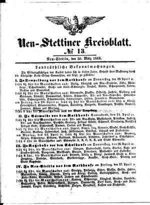 Neustettiner Kreisblatt vom 30.03.1866