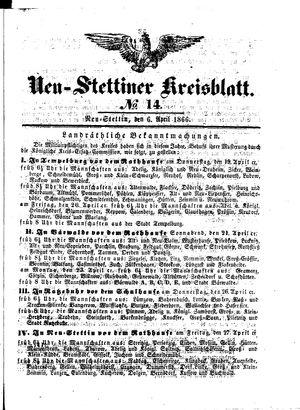 Neustettiner Kreisblatt vom 06.04.1866