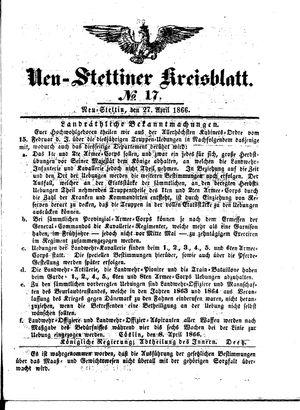 Neustettiner Kreisblatt vom 27.04.1866