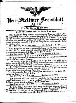 Neustettiner Kreisblatt on May 11, 1866
