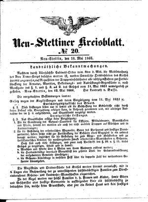 Neustettiner Kreisblatt on May 18, 1866