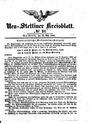 Neustettiner Kreisblatt vom 23.05.1866