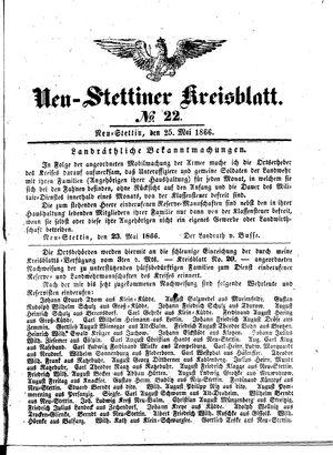 Neustettiner Kreisblatt vom 25.05.1866