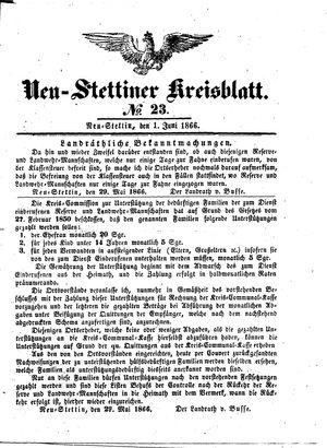 Neustettiner Kreisblatt on Jun 1, 1866