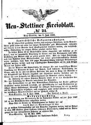 Neustettiner Kreisblatt vom 08.06.1866