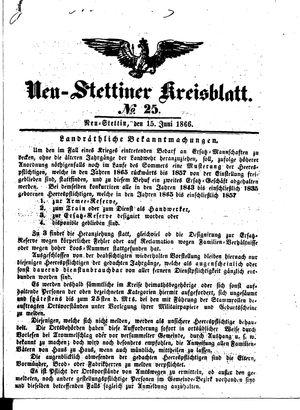 Neustettiner Kreisblatt vom 15.06.1866