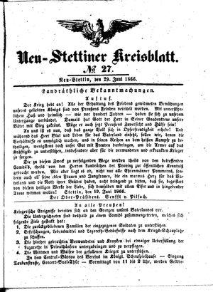 Neustettiner Kreisblatt vom 29.06.1866