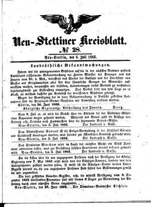 Neustettiner Kreisblatt vom 06.07.1866