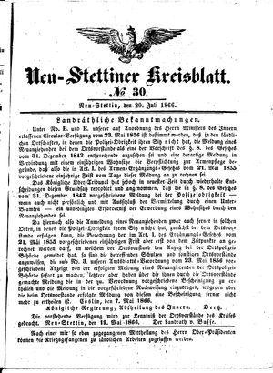 Neustettiner Kreisblatt vom 20.07.1866