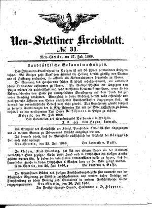 Neustettiner Kreisblatt on Jul 27, 1866