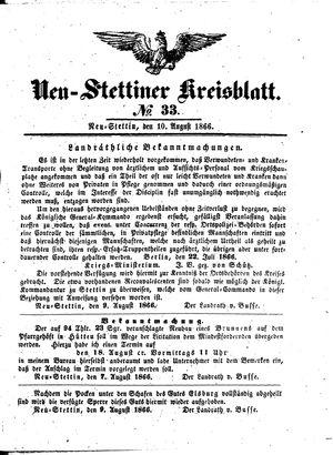 Neustettiner Kreisblatt vom 10.08.1866