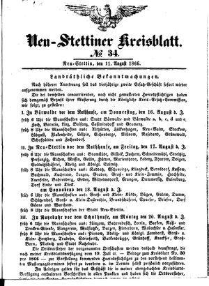 Neustettiner Kreisblatt vom 11.08.1866