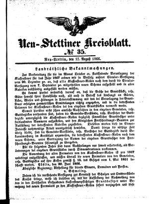 Neustettiner Kreisblatt vom 17.08.1866