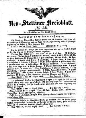 Neustettiner Kreisblatt vom 24.08.1866