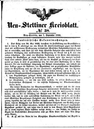 Neustettiner Kreisblatt on Sep 7, 1866