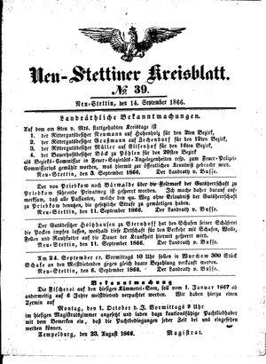 Neustettiner Kreisblatt vom 14.09.1866