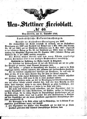 Neustettiner Kreisblatt vom 21.09.1866