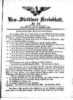 Neustettiner Kreisblatt vom 26.09.1866