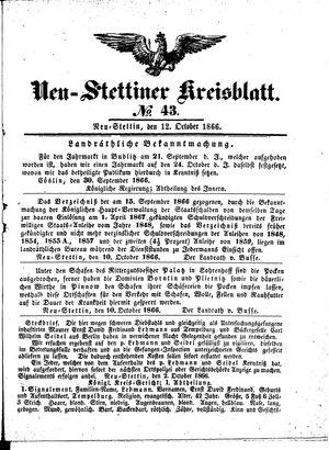 Neustettiner Kreisblatt vom 12.10.1866
