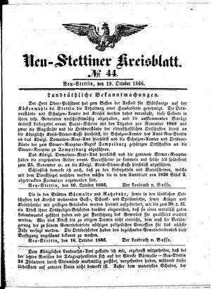 Neustettiner Kreisblatt vom 19.10.1866