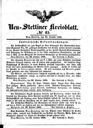 Neustettiner Kreisblatt vom 26.10.1866