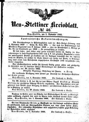 Neustettiner Kreisblatt vom 02.11.1866