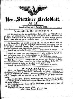 Neustettiner Kreisblatt vom 09.11.1866
