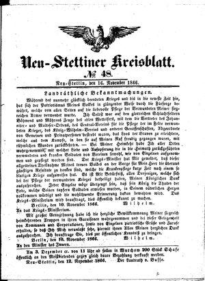 Neustettiner Kreisblatt vom 16.11.1866