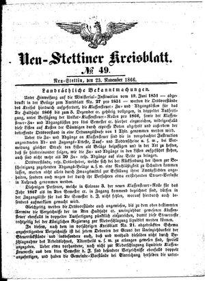Neustettiner Kreisblatt vom 23.11.1866