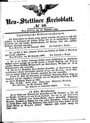 Neustettiner Kreisblatt on Nov 30, 1866