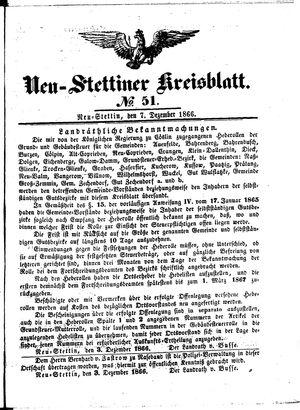 Neustettiner Kreisblatt vom 07.12.1866
