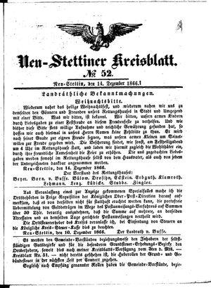 Neustettiner Kreisblatt vom 14.12.1866