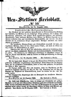 Neustettiner Kreisblatt vom 21.12.1866