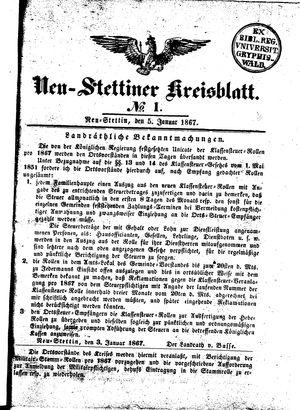 Neustettiner Kreisblatt vom 05.01.1867