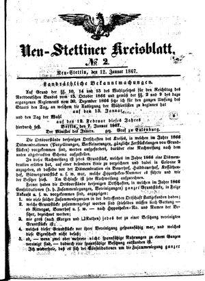 Neustettiner Kreisblatt vom 12.01.1867