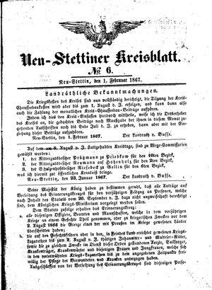 Neustettiner Kreisblatt vom 01.02.1867