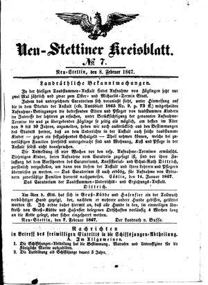 Neustettiner Kreisblatt vom 08.02.1867