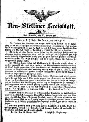 Neustettiner Kreisblatt vom 15.02.1867
