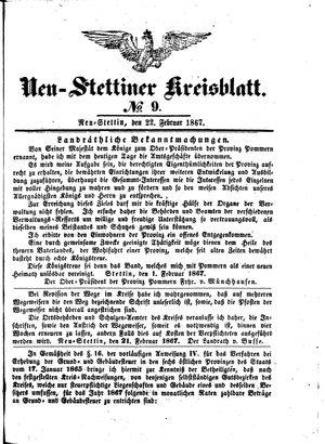 Neustettiner Kreisblatt vom 22.02.1867