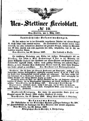 Neustettiner Kreisblatt vom 01.03.1867