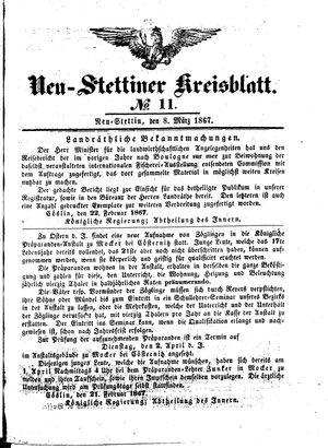 Neustettiner Kreisblatt vom 08.03.1867